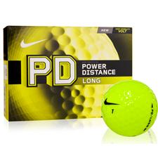 Nike Power Distance Long Volt Yellow Golf Balls - Manufacturer Closeout