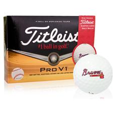 Titleist Atlanta Braves Prior Generation Pro V1 MLB Golf Balls
