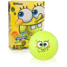 Wilson SpongeBob Squarepants Yellow Golf Balls