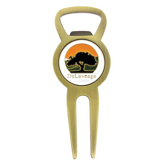 Logo Golf Bottle Opener Divot Tool