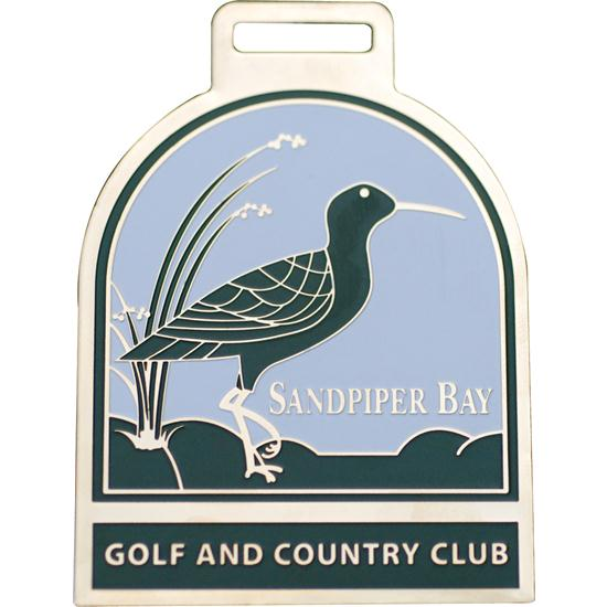 Logo Golf Brass Etched Bag Tags