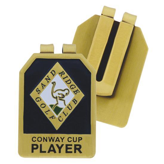 Logo Golf Metal Money Clip