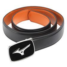 Mizuno Plain Leather Belt - Black - Cut to Length
