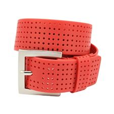 PGA Tour Perforated Silicone Belt - Jockey Red - Size 36