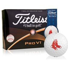 Titleist Boston Red Sox Pro V1 MLB Golf Balls