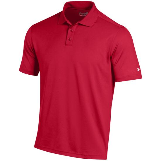 Under armour men 39 s performance custom logo polo red for Personalised logo polo shirts