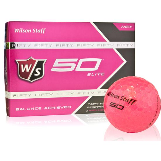 Wilson Staff Fifty Elite Pink Golf Balls