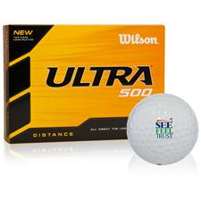 Wilson Ultra 500 Distance See Feel Trust Logo Golf Ball