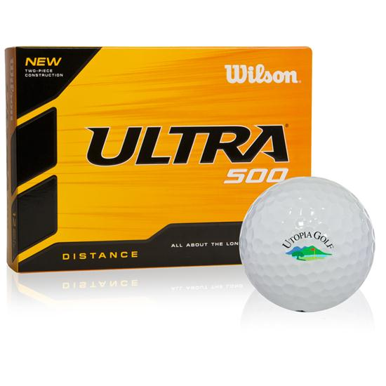 Wilson Ultra 500 Distance Utopia Logo Golf Balls