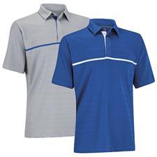 Ashworth Men's Stretch Pique Engineered Golf Shirt
