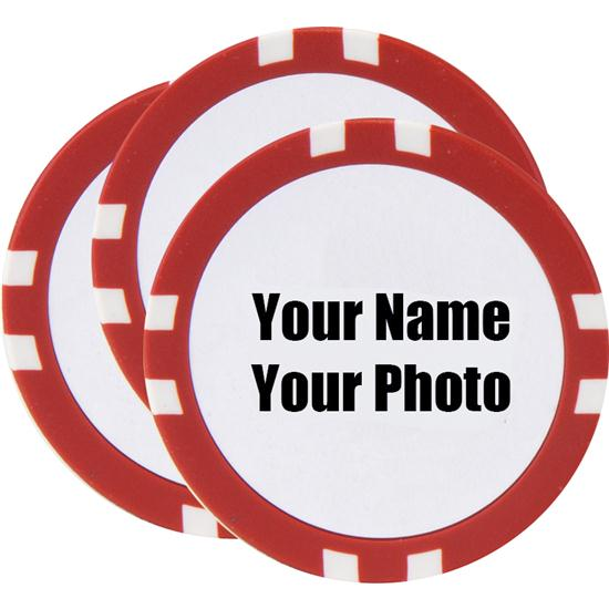 Classic Customized Poker Chips - 3 Pack