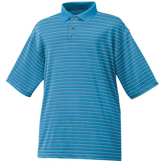 FootJoy Men's Stretch Lisle Stripe Polo