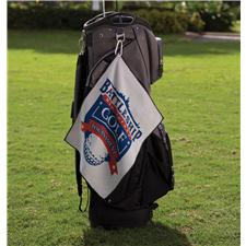 Logo Golf Custom Logo Microfiber Waffle Small Golf Towel