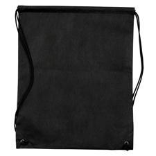 Logo Golf Nonwoven Drawstring Cinch-Up Custom Logo Backpack - Black
