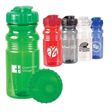 Logo Custom Logo Translucent Sport Bottle with Snap Cap