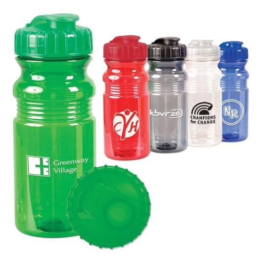 Logo Translucent Sport Bottle with Snap Cap