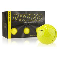 Nitro Tour Distance Yellow Golf Balls