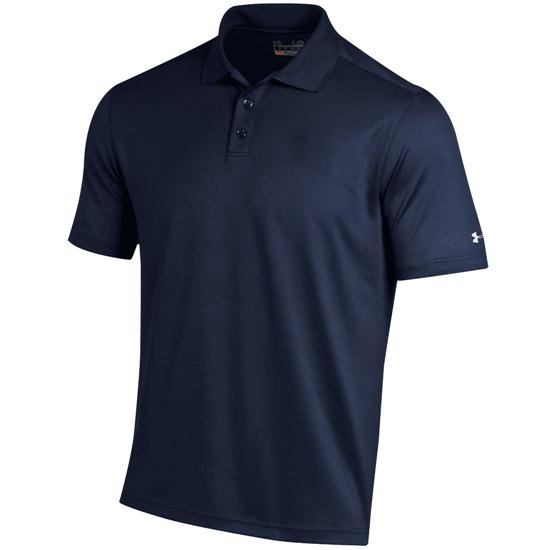Under armour men 39 s performance custom logo polo midnight for Personalized under armour shirts