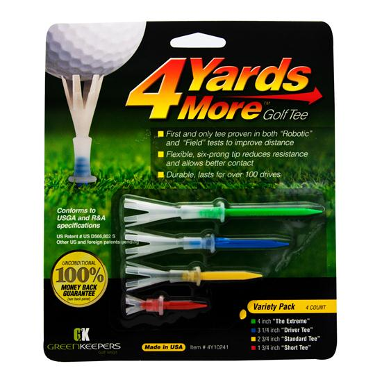 4 Yards More Assorted Golf Tees - 4 CT
