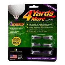 4 Yards More Hybrid Purple Golf Tees - 6 CT