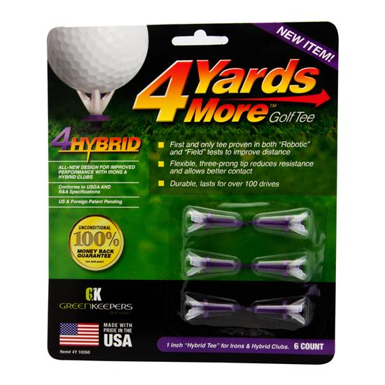 4 Yards More Hybrid Purple Golf Tees - 6 CT