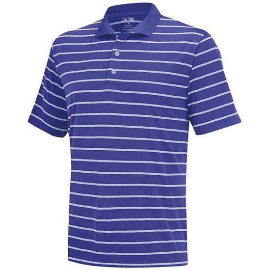 Adidas Men's ClimaLite 2-Color Stripe Polo