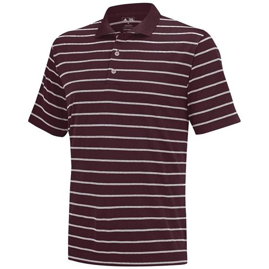 Adidas Men's ClimaLite 2-Color Stripe Polo