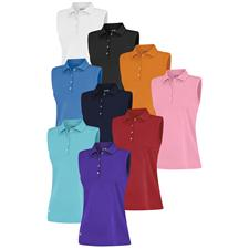 Adidas Custom Logo Climalite Sleeveless Solid Polo for Women