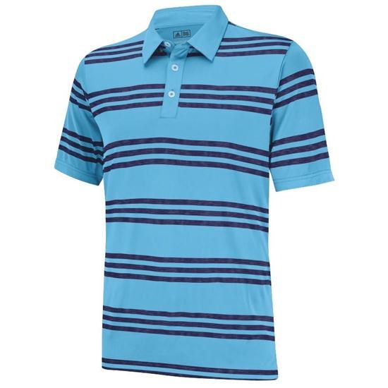 Adidas Men's Puremotion Heather 3-Stripes Polo Closeout