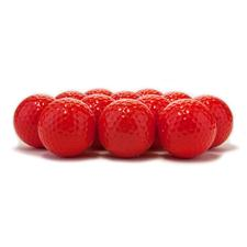 Blank Colored Custom Logo Golf Balls - Red