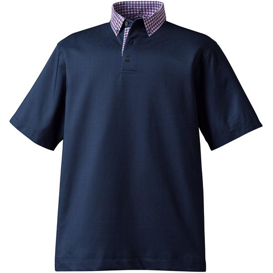 FootJoy Men's Birdseye Pique Woven Button Down Collar Polo