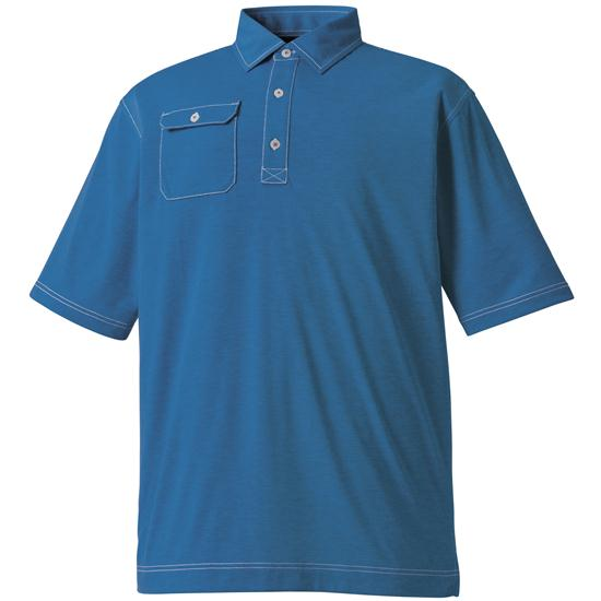 FootJoy Men's Contrast Stitch Spun Poly Jersey Chest Pocket Polo