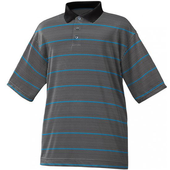 FootJoy Men's Nailhead Jacquard Stripe Polo