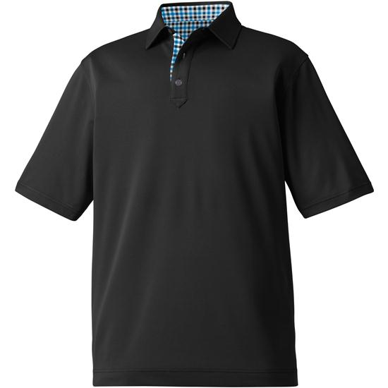 FootJoy Men's Stretch Pique Solid Self Collar Polo