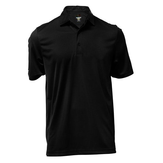 Greg Norman Men's Cationic Jacquard Polo
