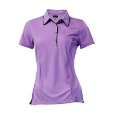 Greg Norman Short Sleeve Contrast Trim Button Polo for Women