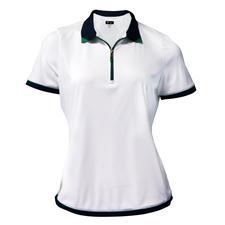 Greg Norman Short Sleeve Contrast Trim Polo for Women