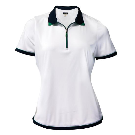 Greg Norman Short Sleeve Contrast Trim Polo for Women
