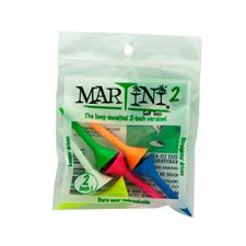 Martini Golf Tees - 2 Inch - Mixed Colors - 6 CT