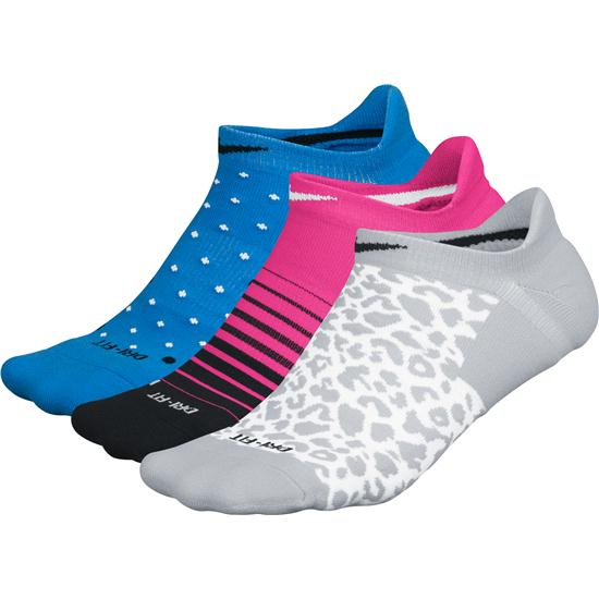 Nike Dri-Fit 3-Pair No-Show Socks for Women Closeout