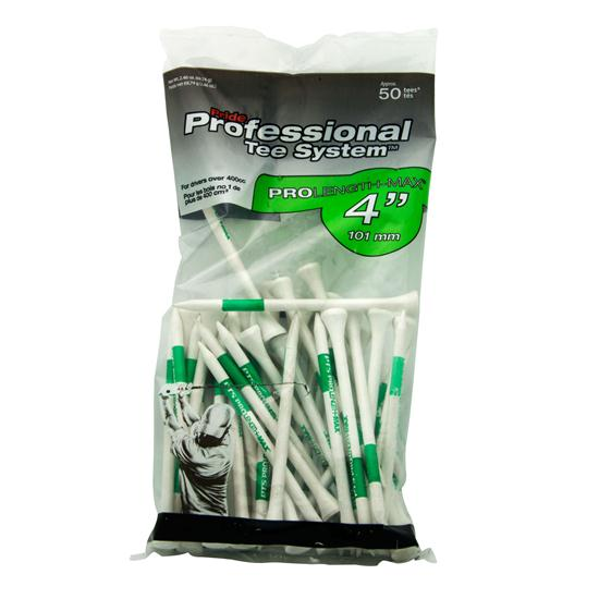 Pride Sports 4 Inch Pro Length Max White Golf Tees