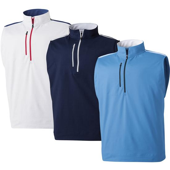 FootJoy Men's Half-Zip Vest with Chest Pocket