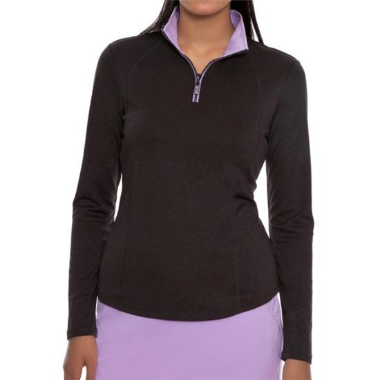 Greg Norman 1/2-Zip Contrast Trim Pullover for Women