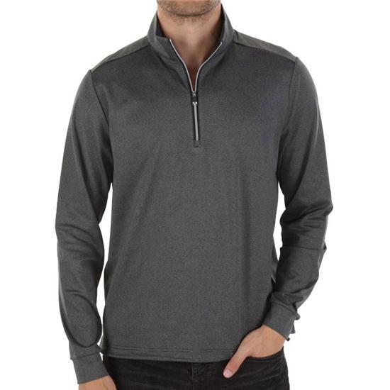 Greg Norman Men's Heathered Stripe Pullover