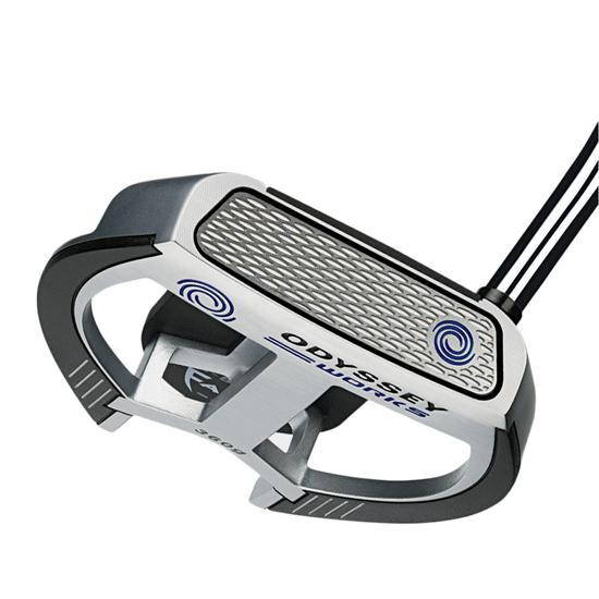 Odyssey Golf Works Versa 2-Ball Fang Lined Putter w/ SS Grip