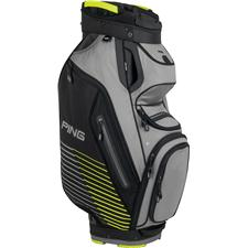 PING Pioneer II Personalized Cart Bag - Light Grey-Black-Limelite