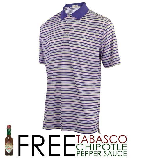 TABASCO Brand Men's Pique Multi-Colored Pin Stripe Polo