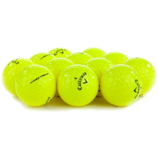Callaway Golf Hex Pro Yellow Logo Overrun Golf Balls