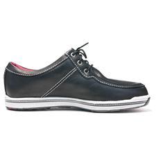 FootJoy Men's Contour Casual Leather Golf Shoes - Black - 9 1/2 Medium