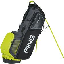 PING Hoofer 14 Personalized Carry Bag - Grey-Black-Limelite